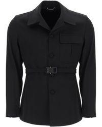 Dior Single Breasted Coat - Black