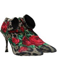 Dolce & Gabbana Brown Ankle Boots Lori