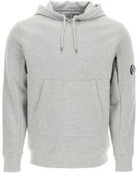 C.P. Company Cp Company Diagonal Raised Fleece Hooded Sweatshirt - Blue