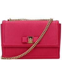 Ferragamo Crossbody Bag Ginny Leather - Multicolor