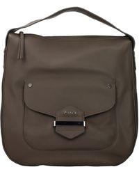 Pollini Handbags Women Polyurethane Grey Taupe