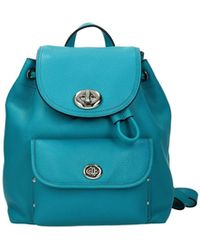 COACH Backpacks And Bumbags Leather Turquoise - Blue