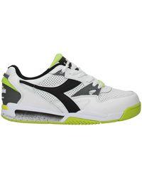 Diadora Trainers Leather Fluo - White