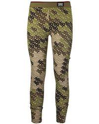 Burberry Patterned Leggings Green