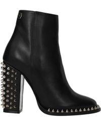 Philipp Plein Ankle Boots Leather - Black