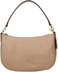 COACH Beige Handbags - Natural
