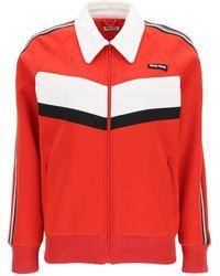Miu Miu Sweatshirt With Applications - Red