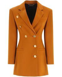 Versace Double-breasted Blazer - Orange