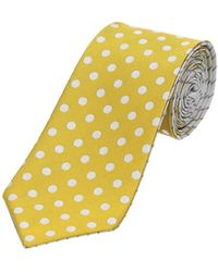 Canali Ties Men Yellow - Multicolour