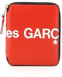Comme des Garçons Comme Des Garcons Wallet Zip-around Huge Logo Wallet - Red