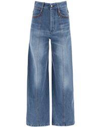 Chloé Oversized Bleached Jeans - Blue