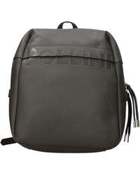 Pollini Backpacks And Bumbags Polyurethane - Grey