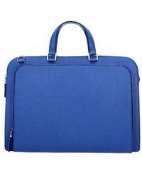 Prada Work Bags Men Blue