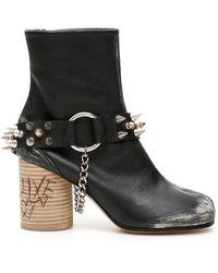 Maison Margiela Rock Tabi Boots - Black