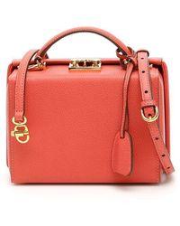 Mark Cross Grace Small Bag Caviar - Red