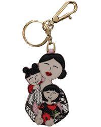 Dolce & Gabbana Multicolour Key Rings Patch D&g Family - Black