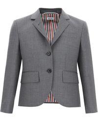 Thom Browne Super 120's Single-breasted Jacket - Grey