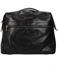 Alexander McQueen Handbags Messenger Men Leather Black