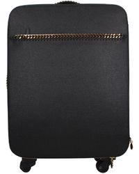 Stella McCartney Black Wheeled Luggages