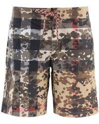 Burberry Camouflage Check Swim Shorts - Multicolor