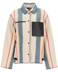 Loewe Striped Wool Jacket - Multicolour