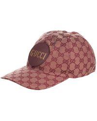 Gucci Baseball Cap In Gg Fabric - Natural