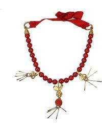 Valentino Garavani - Red Necklaces - Lyst