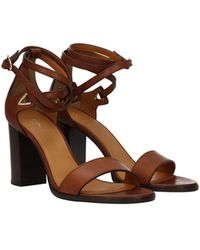 Celine Sandals Crecy Leather - Brown