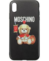 Moschino Iphone Cover Iphone Xs Max Acrylic - Black