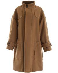 Celine Wool Coat - Brown