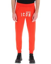 DSquared² Icon Logo Joggers - Red