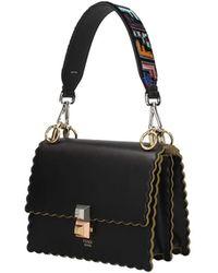 Fendi Shoulder Strap Handle Velvet - Black