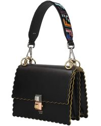 Fendi Shoulder Strap Handle Women Black