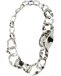 Balenciaga Silver Necklaces - Metallic
