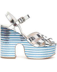 Miu Miu Mirror Platform Sandals - Multicolour