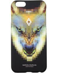 Marcelo Burlon Iphone Cover Iphone 6/6s Men Yellow - Black