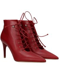 Miu Miu Red Ankle Boots