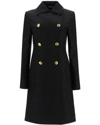Givenchy Chaîne Coat With 4g Buttons - Black