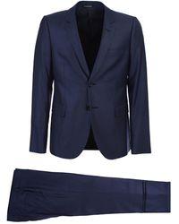 Emporio Armani Blue Single Breasted Suit