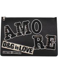 Dolce & Gabbana Black Clutches