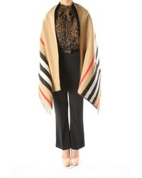Burberry Capes Women Wool Beige - Natural