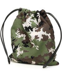 Miu Miu Camouflage-printed Pouch - Green