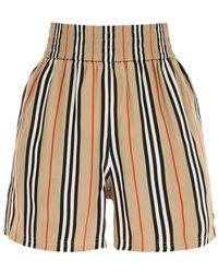 Burberry Marsett Striped Silk Shorts - Multicolour