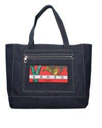 KENZO Blue Shoulder Bags Memento Collection