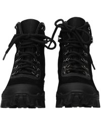 Moncler Ankle Boots Helis Suede - Black