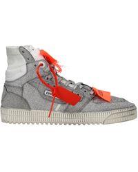Off-White c/o Virgil Abloh Silver Sneakers - Metallic