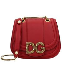 Dolce & Gabbana Crossbody Bag Amore Women Red