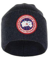 Canada Goose Arctic Disc Toque Navy Melange Hat - Blue