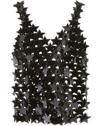 Paco Rabanne Maxi Star Sequins Top - Black