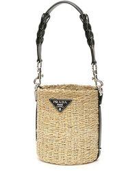 Prada Woven Rope Bucket Bag - Multicolour